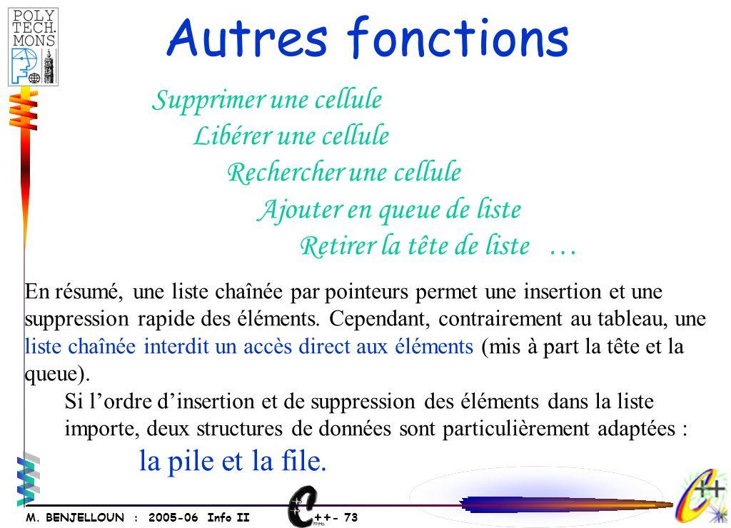 ++ - 72 M. BENJELLOUN : 2005-06 Info II Claire Denis NULL Alfred 1 2 3 TRI 1 Claire 3 Denis NULL 2