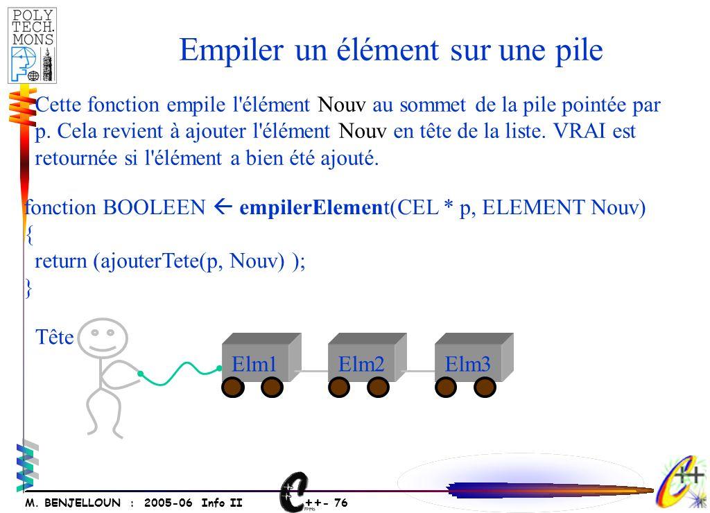 ++ - 75 M. BENJELLOUN : 2005-06 Info II Exemples
