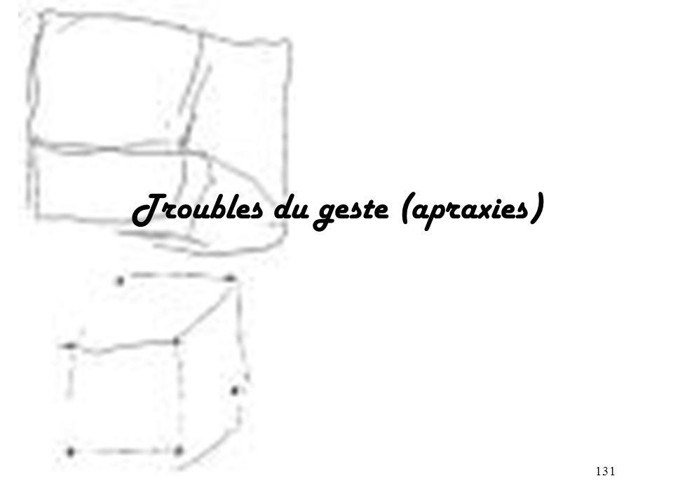 131 Troubles du geste (apraxies)