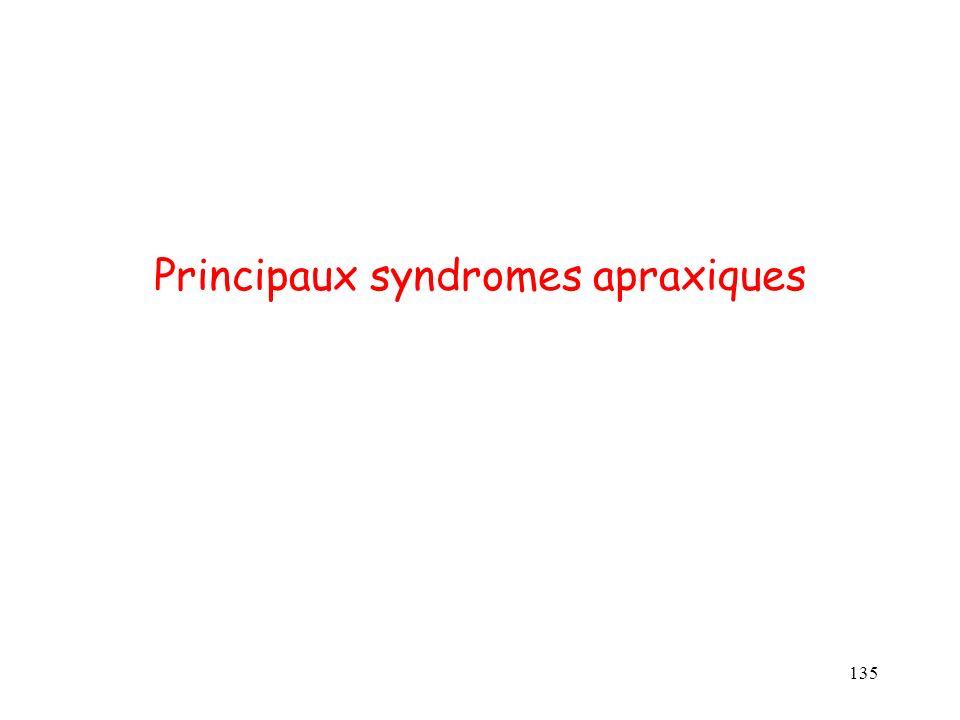 135 Principaux syndromes apraxiques