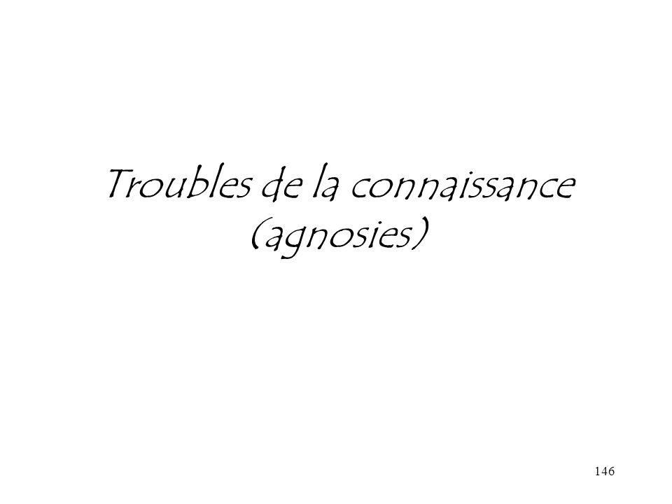 146 Troubles de la connaissance (agnosies)