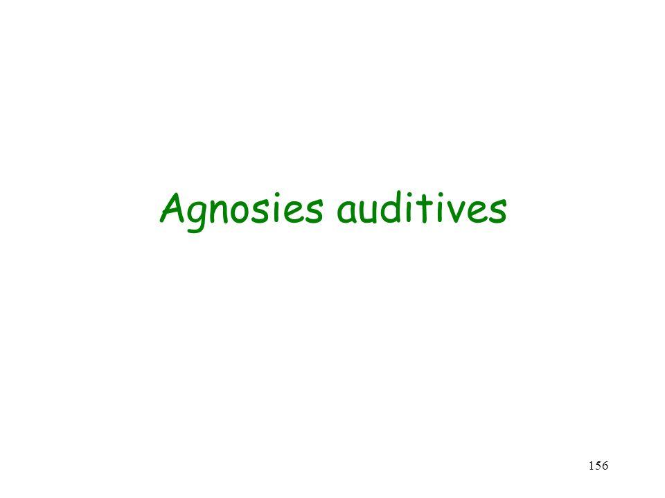 156 Agnosies auditives