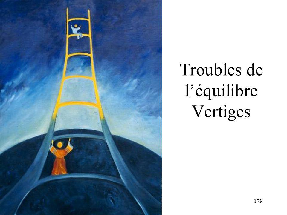 179 Troubles de léquilibre Vertiges