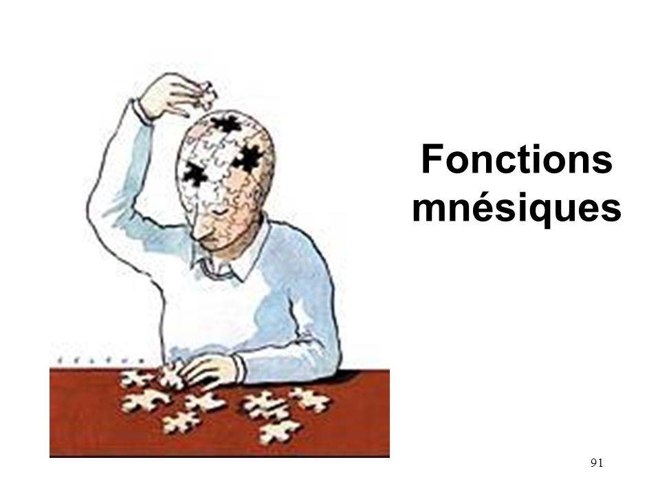 91 Fonctions mnésiques