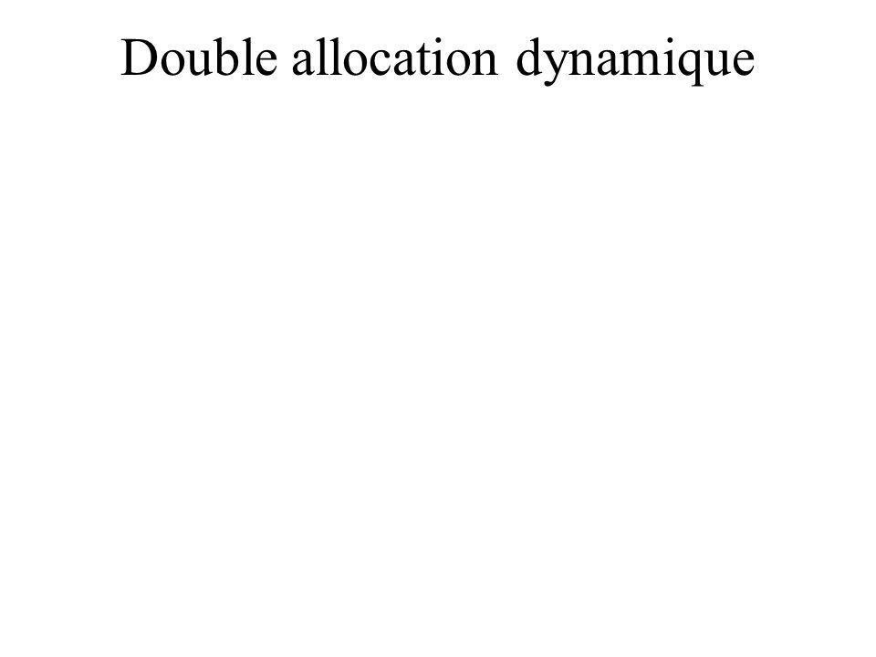 Double allocation dynamique