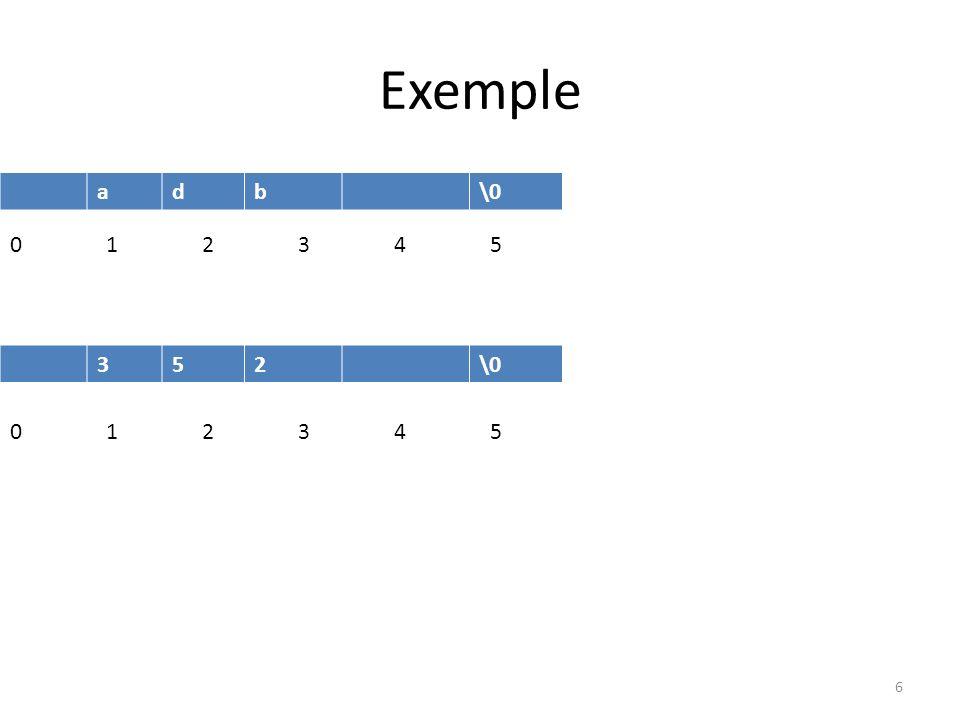 Exemple adb\0 0123 45 352\0 0123 45 6