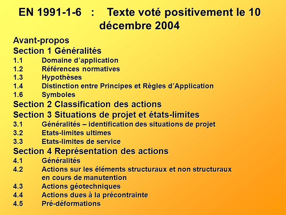 Avant-propos Section 1 Généralités 1.1Domaine dapplication 1.2Références normatives 1.3Hypothèses 1.4Distinction entre Principes et Règles dApplicatio