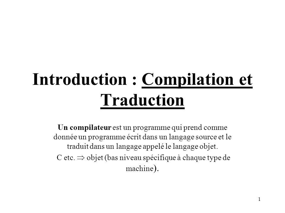 12 Gestion des erreurs Elle peut se produire à toutes les étapes de la compilation.