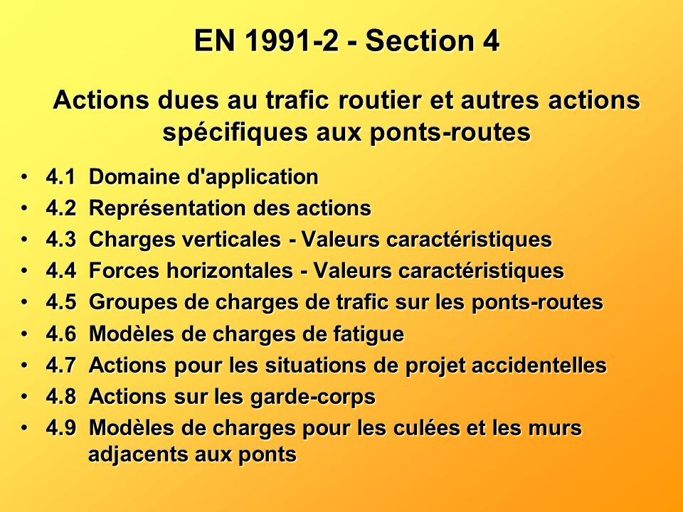EN 1991-2 - Section 4 4.1Domaine d'application4.1Domaine d'application 4.2Représentation des actions4.2Représentation des actions 4.3Charges verticale