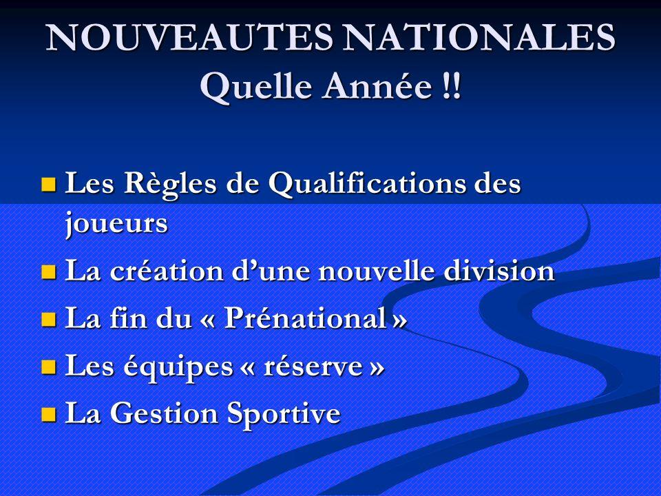 NOUVEAUTES NATIONALES Quelle Année !.