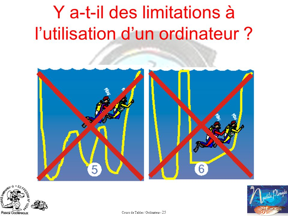 Cours de Tables / Ordinateur - 25 Y a-t-il des limitations à lutilisation dun ordinateur ?