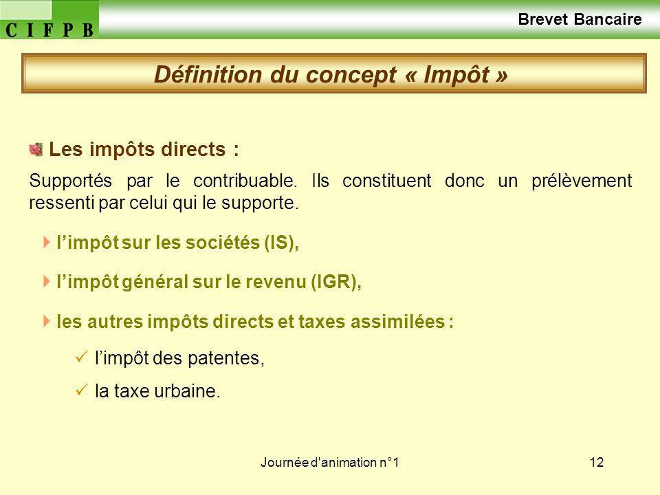 Journée d animation n°113 Les impôts indirects : la taxe sur la valeur ajoutée (TVA), la taxe intérieure de consommation (TIC), les droits denregistrement et de timbre, la fiscalité douanière.