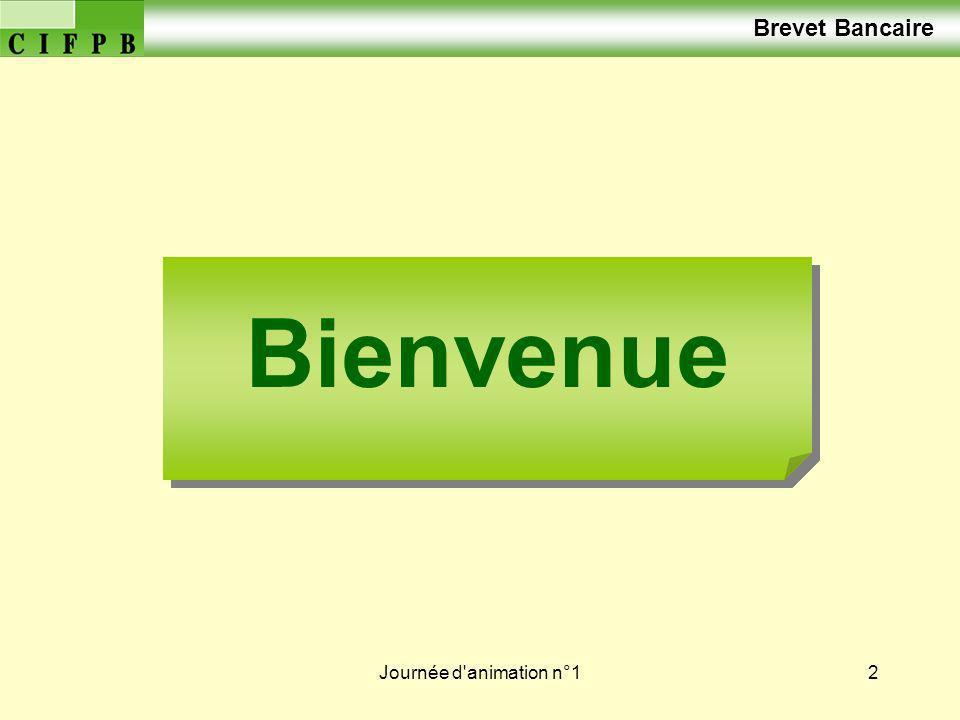 Journée d animation n°13 Brevet Bancaire Correction du Travail Préparatoire