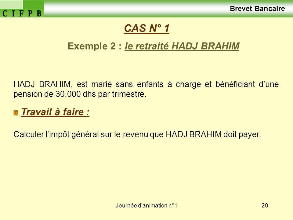 Journée d animation n°121 CAS N° 1 Solution exemple 1 : le salarié M.