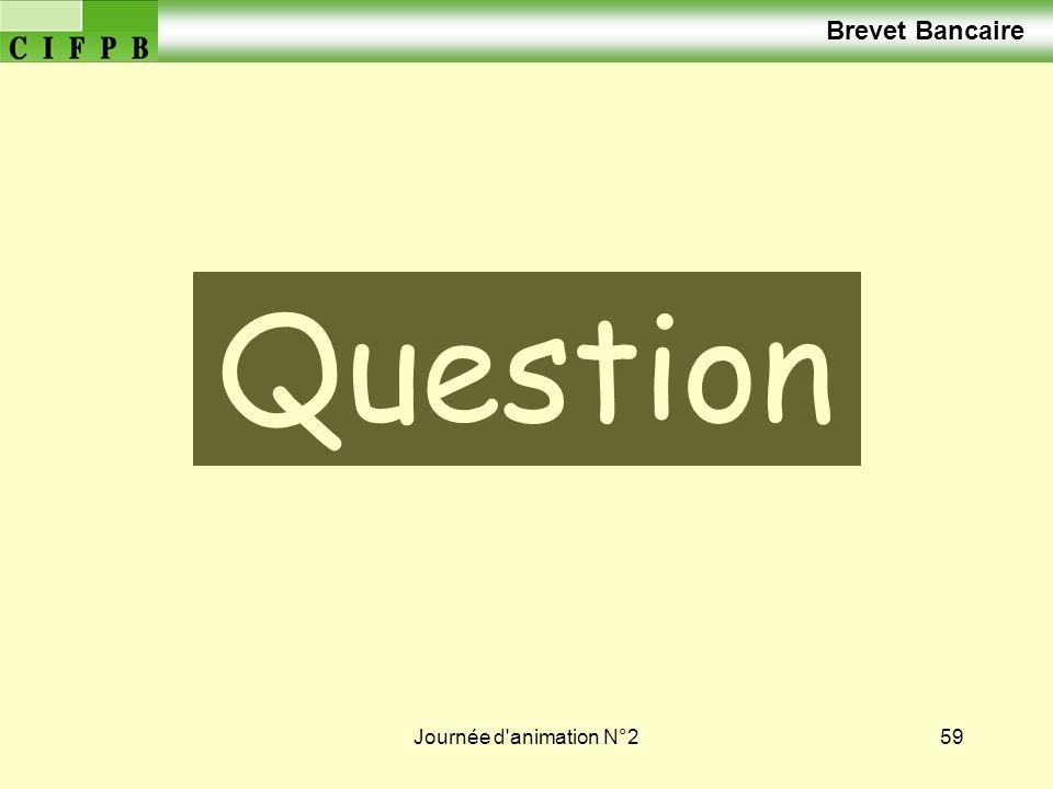Journée d'animation N°259 Vos Question s Brevet Bancaire
