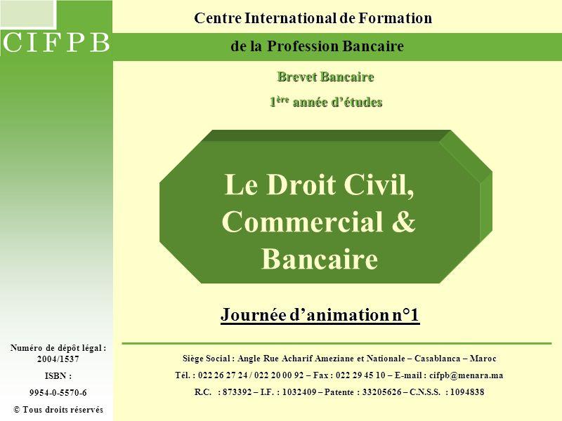 JOURNEE D ANIMATION N°12 Présentation Bienvenue Bienvenue Brevet Bancaire