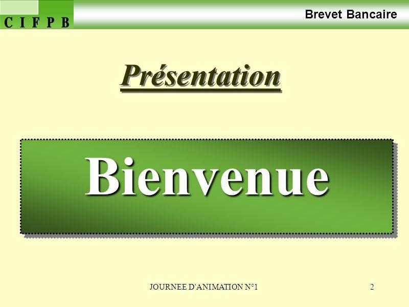 JOURNEE D ANIMATION N°13 Brevet Bancaire Correction du travail préparatoire Correction du travail préparatoire