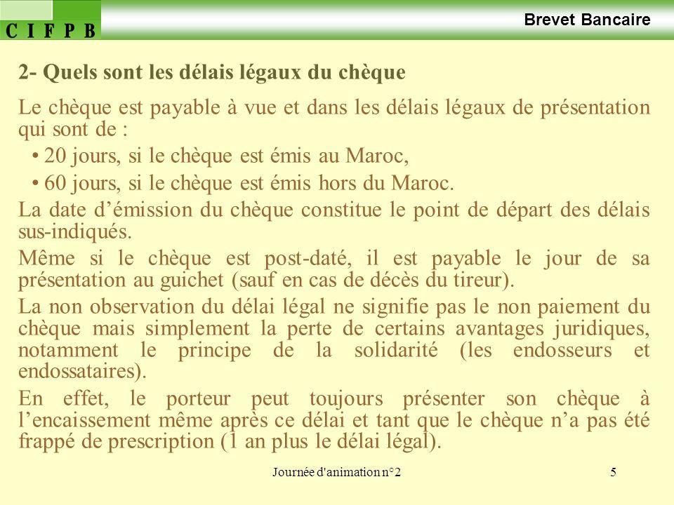 Journée d animation n°246 Brevet Bancaire Le bon de trésor à court terme.