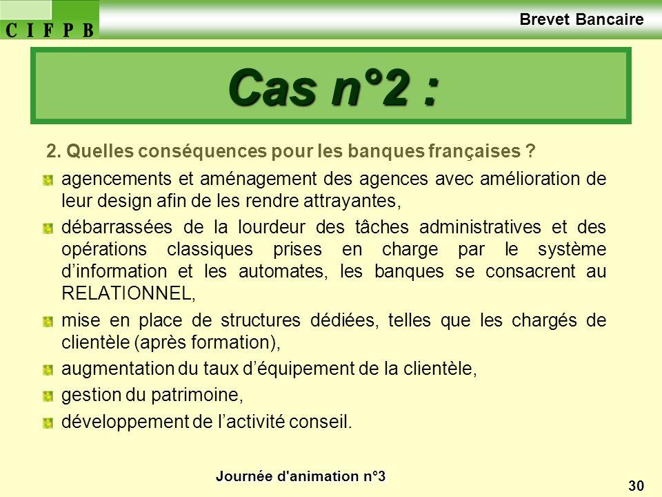 Journée d'animation n°3 30 2. Quelles conséquences pour les banques françaises ? agencements et aménagement des agences avec amélioration de leur desi