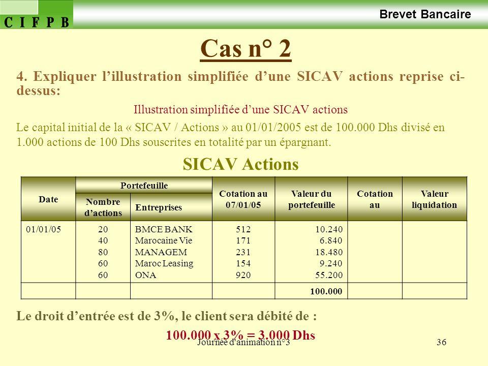 Journée d animation n°336 Cas n° 2 Brevet Bancaire 4.