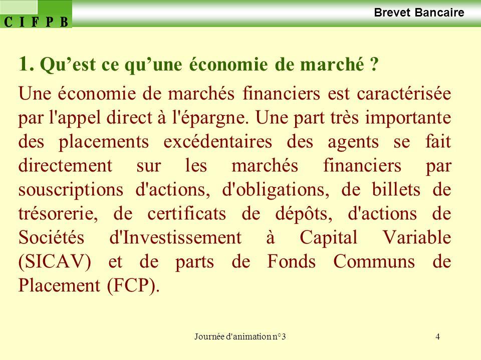 Journée d animation n°325 Brevet Bancaire Les OPCVM sont des instruments dépargne collective.