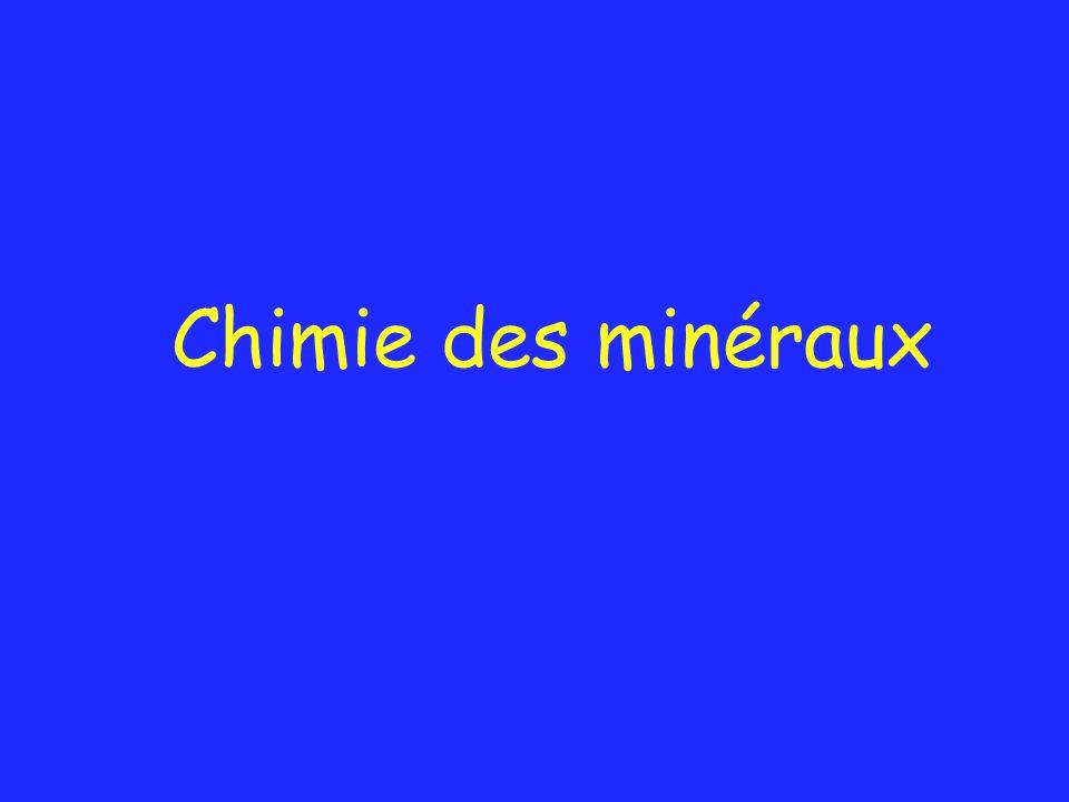 Chimie des minéraux