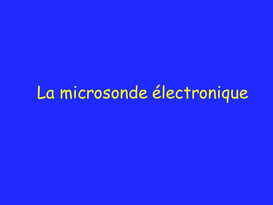 La microsonde électronique