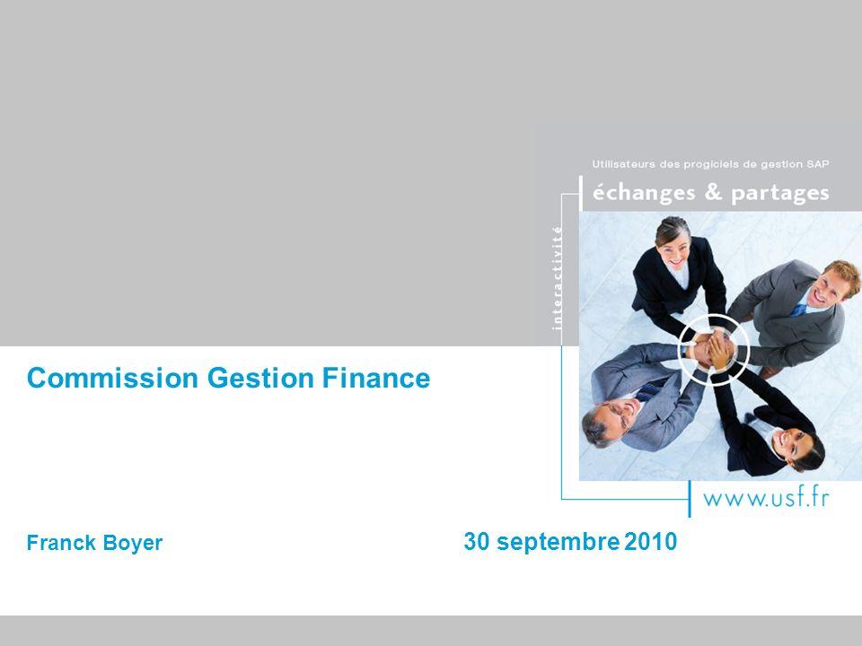 10/03/2014 22 Gestion Finances : ordre du jour 14 h 00 – 15 h 00Synthèse des réflexions des groupes de travail Finance : Franck REMEN et Patricia CASIER Trésorerie : Annick LABELLE 15 h 00 – 15 h 15Pause 15 h 15 – 16 h 00Nouvelle solution SAP en mode SAAS et Cloud Présentation et démo de Business by Design André STREISSEL – SAP France 16 h 00 – 16 h 15Conclusion