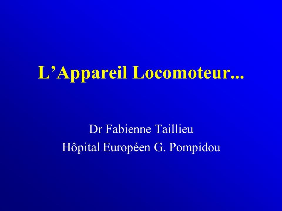 LAppareil Locomoteur... Dr Fabienne Taillieu Hôpital Européen G. Pompidou