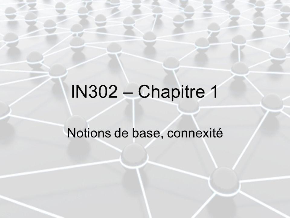 IN302 – Chapitre 1 Notions de base, connexité