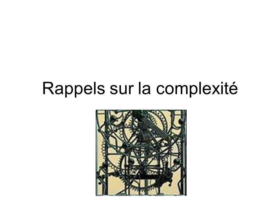 Rappels sur la complexité
