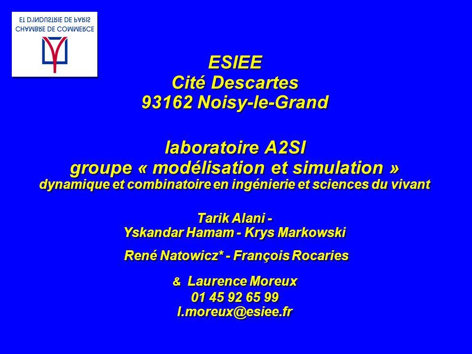 ESIEE Cité Descartes 93162 Noisy-le-Grand laboratoire A2SI groupe « modélisation et simulation » dynamique et combinatoire en ingénierie et sciences d