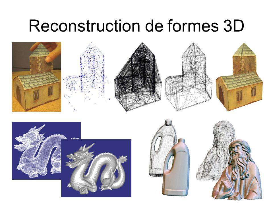 Reconstruction de formes 3D