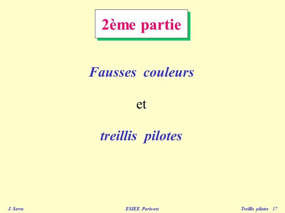 J. Serra ESIEE Paris-est Treillis pilotes 17 2ème partie Fausses couleurs et treillis pilotes