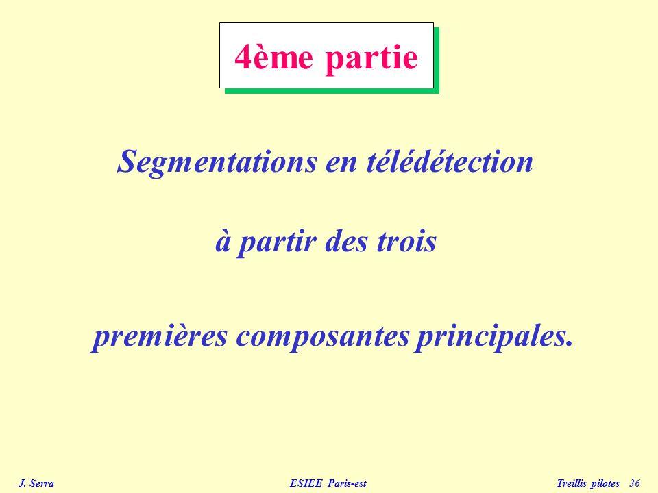 J. Serra ESIEE Paris-est Treillis pilotes 36 4ème partie Segmentations en télédétection à partir des trois premières composantes principales.