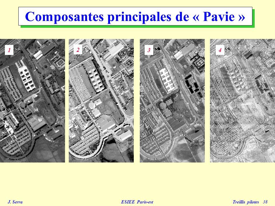 J. Serra ESIEE Paris-est Treillis pilotes 38 1 2 34 Composantes principales de « Pavie »