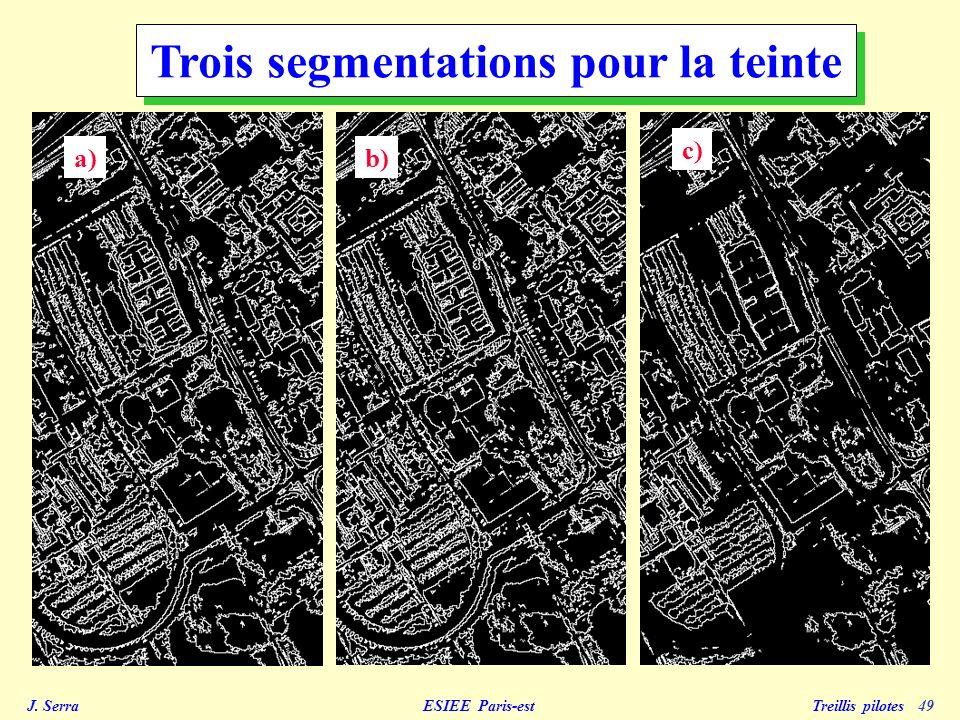 J. Serra ESIEE Paris-est Treillis pilotes 50 Segmentation de la luminance initialsegmenté contours