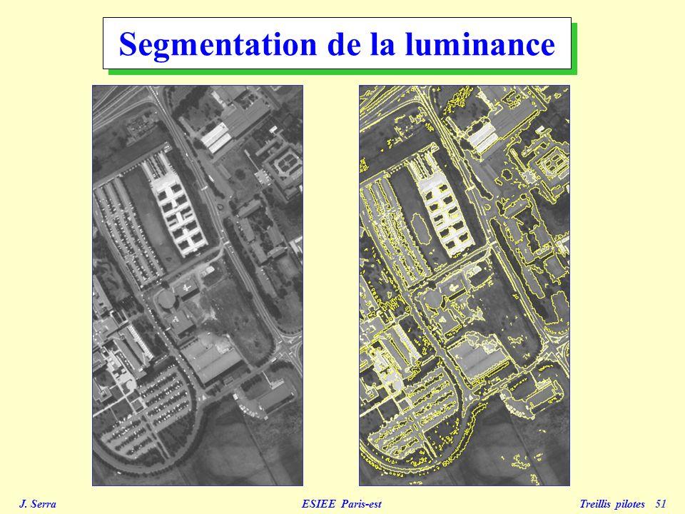 J. Serra ESIEE Paris-est Treillis pilotes 51 Segmentation de la luminance