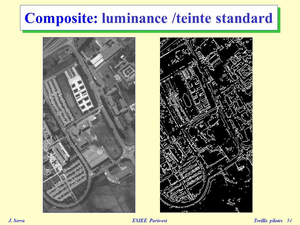 J. Serra ESIEE Paris-est Treillis pilotes 55 Composite: luminance /teinte 1 pôle