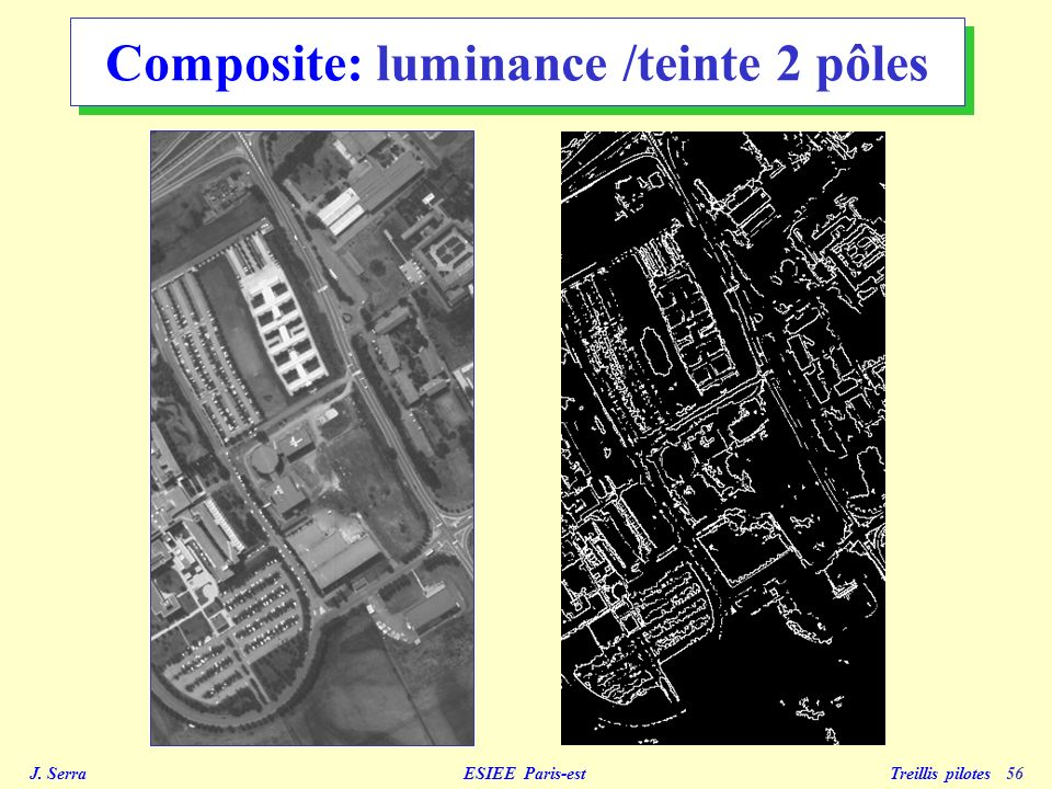 J. Serra ESIEE Paris-est Treillis pilotes 56 Composite: luminance /teinte 2 pôles