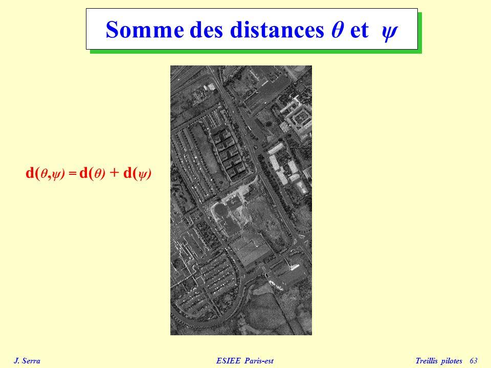 J.Serra ESIEE Paris-est Treillis pilotes 64 Image de et son histogramme (seuil 180).