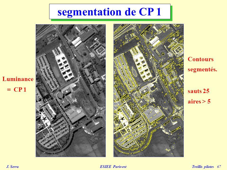J.Serra ESIEE Paris-est Treillis pilotes 68 Luminance = CP 1 Contours segmentés.