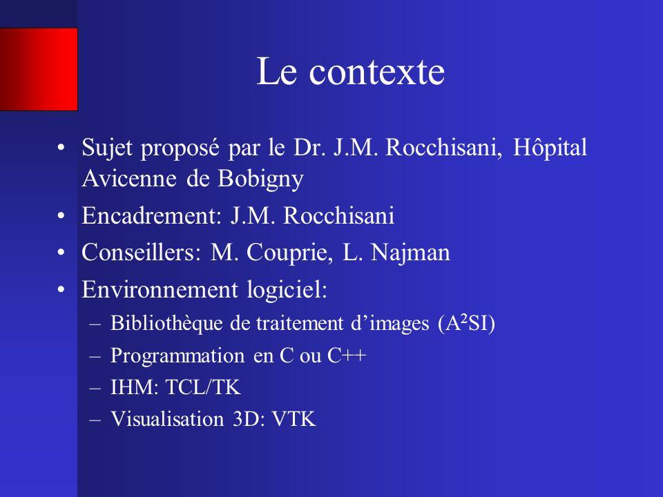 Le contexte Sujet proposé par le Dr. J.M. Rocchisani, Hôpital Avicenne de Bobigny Encadrement: J.M. Rocchisani Conseillers: M. Couprie, L. Najman Envi