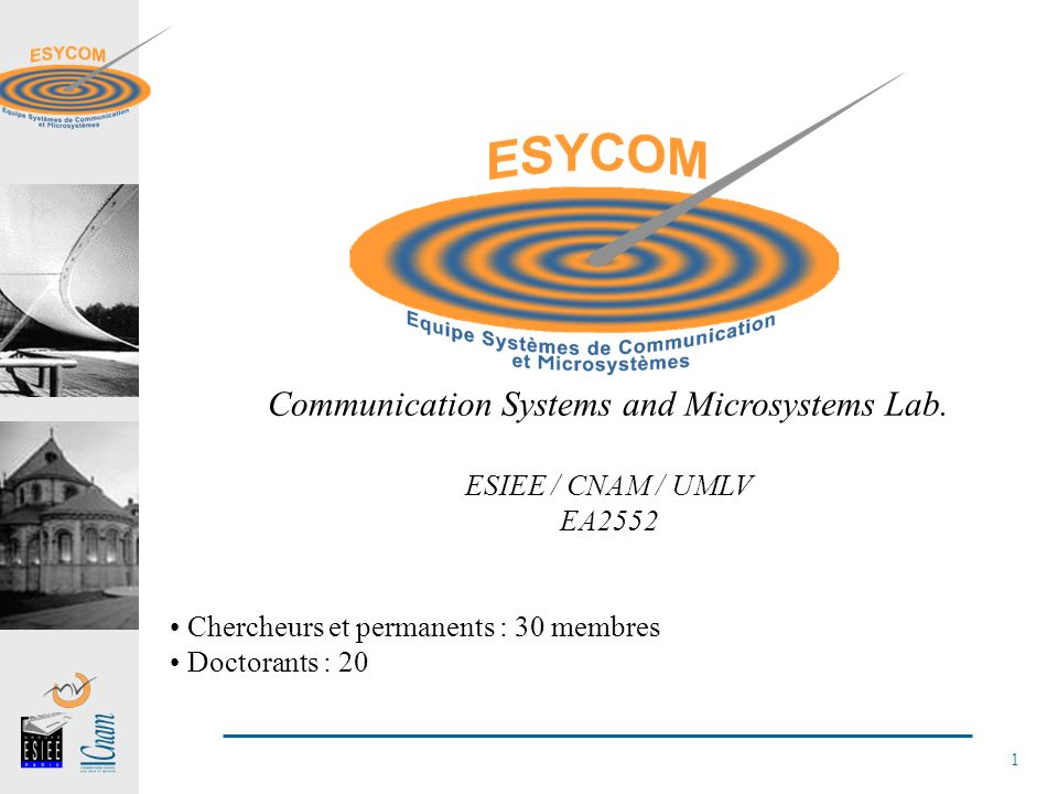 1 Communication Systems and Microsystems Lab.