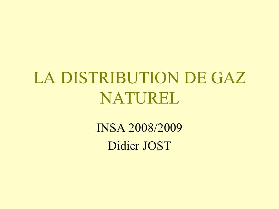 LA DISTRIBUTION DE GAZ NATUREL INSA 2008/2009 Didier JOST