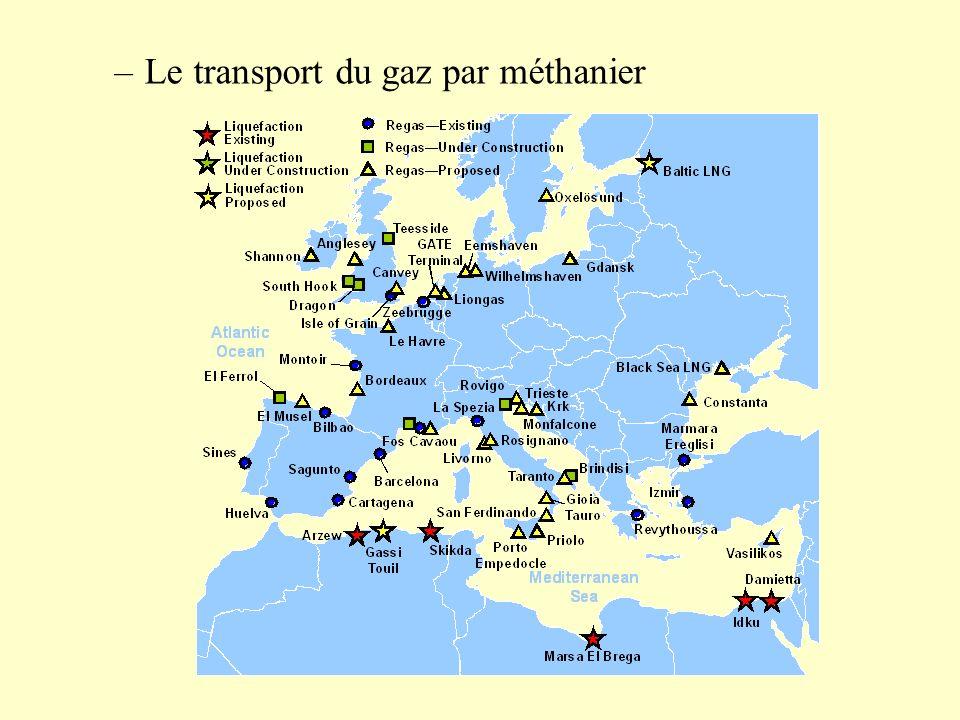 –Le transport du gaz par méthanier
