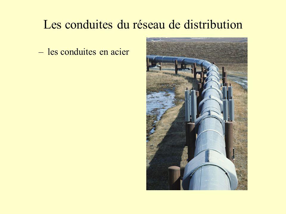 Les conduites du réseau de distribution –les conduites en acier