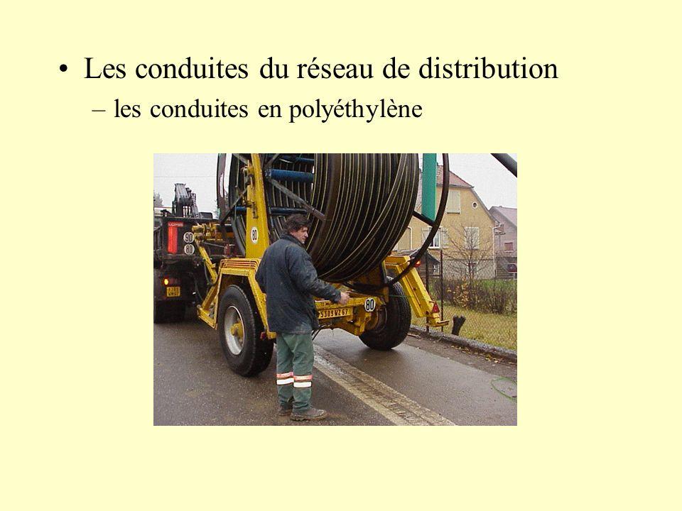 Les conduites du réseau de distribution –les conduites en polyéthylène