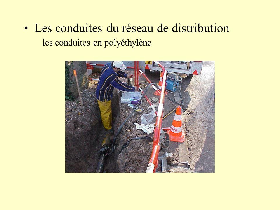 Les conduites du réseau de distribution les conduites en polyéthylène