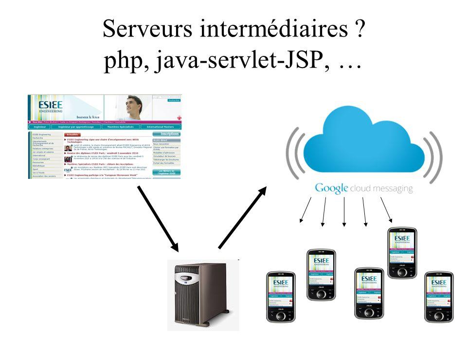 Serveurs intermédiaires ? php, java-servlet-JSP, …